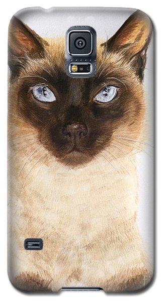 Siamese Cat Over White Galaxy S5 Case