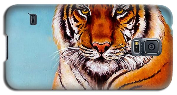 Galaxy S5 Case featuring the painting Siberian King Tiger by Bob and Nadine Johnston