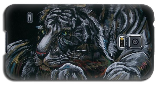 Galaxy S5 Case featuring the pastel Siberian Tiger by Peter Suhocke