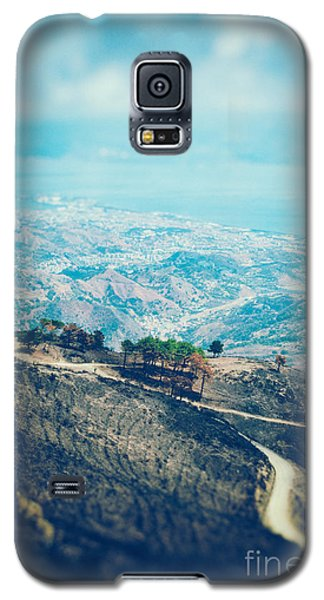 Galaxy S5 Case featuring the photograph Sicilian Land After Fire by Silvia Ganora
