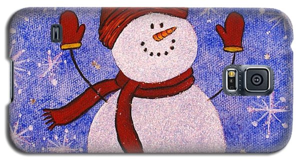 Galaxy S5 Case featuring the painting Sid The Snowman by Jane Chesnut