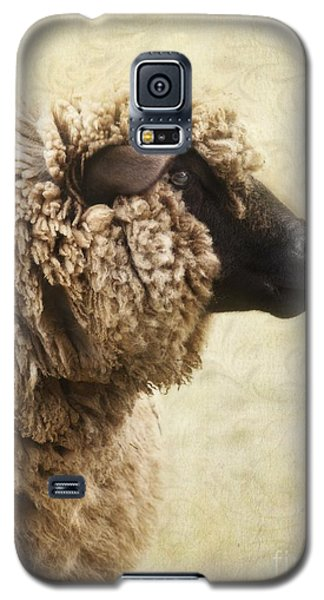 Side Face Of A Sheep Galaxy S5 Case by Priska Wettstein
