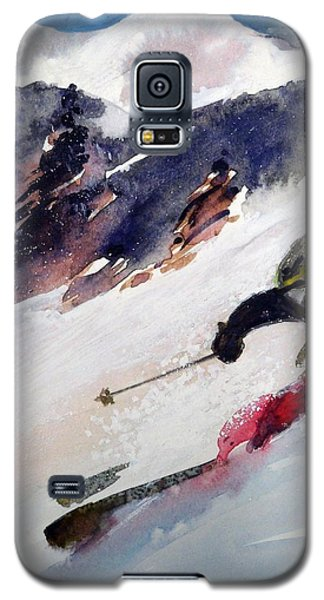 Galaxy S5 Case featuring the painting Sierra At Tahoe by Ed  Heaton