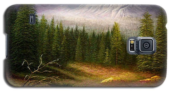 Galaxy S5 Case featuring the painting Sierra Spring Storm by Loxi Sibley