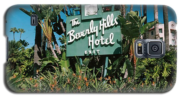 Signboard Of A Hotel, Beverly Hills Galaxy S5 Case by Panoramic Images