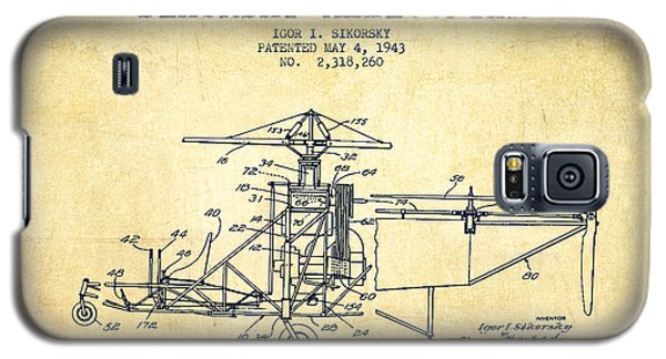 Helicopter Galaxy S5 Case - Sikorsky Helicopter Patent Drawing From 1943-vintage by Aged Pixel