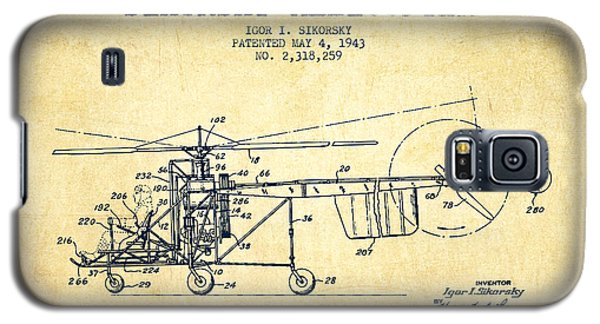 Helicopter Galaxy S5 Case - Sikorsky Helicopter Patent Drawing From 1943-vintgae by Aged Pixel