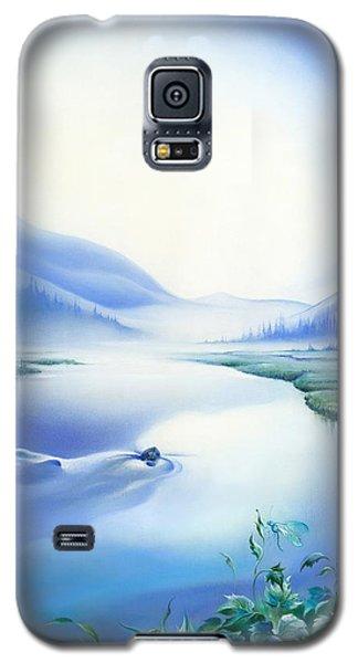 Galaxy S5 Case featuring the painting Silence by Anna Ewa Miarczynska