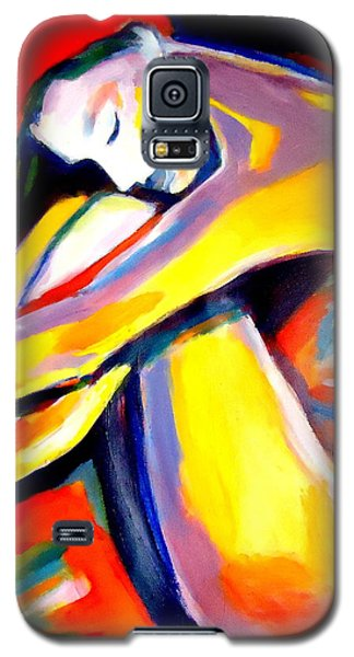 Galaxy S5 Case featuring the painting Silence by Helena Wierzbicki