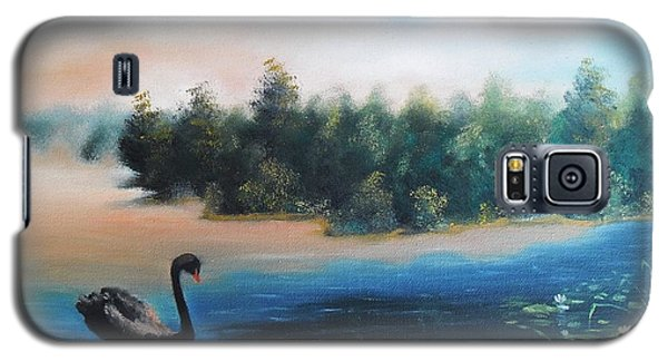Galaxy S5 Case featuring the painting Silence by Vesna Martinjak