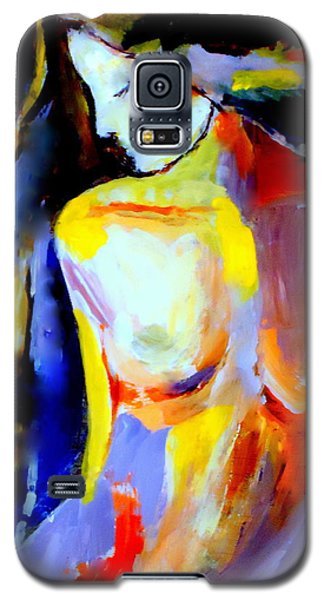 Galaxy S5 Case featuring the painting Silent Glow by Helena Wierzbicki