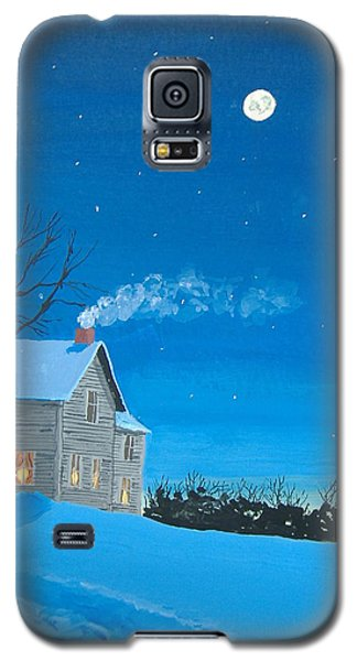 Galaxy S5 Case featuring the painting Silent Night by Norm Starks