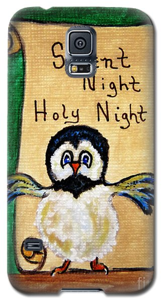 Silent Night - Whimsical Chickadee Choir Director Galaxy S5 Case