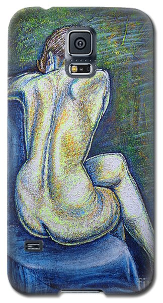 Galaxy S5 Case featuring the painting Silhouette 2 by Viktor Lazarev