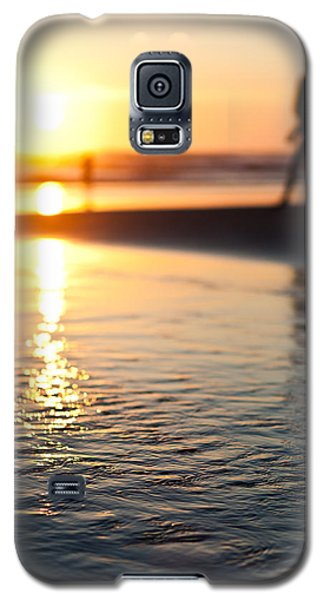 Silhouette At Sunset Galaxy S5 Case