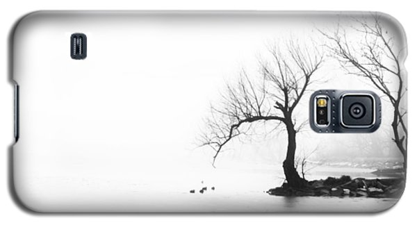 Silhouette In Fog Galaxy S5 Case
