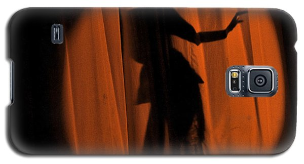 Galaxy S5 Case featuring the photograph Silhouette Of A Singer ... by Chuck Caramella
