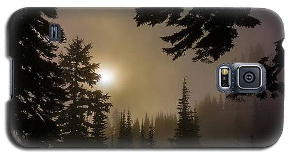 Silhouettes Of Trees On Mt Rainier II Galaxy S5 Case