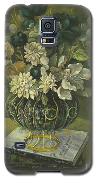 Galaxy S5 Case featuring the painting Silk Floral Arrangement by Marlene Book