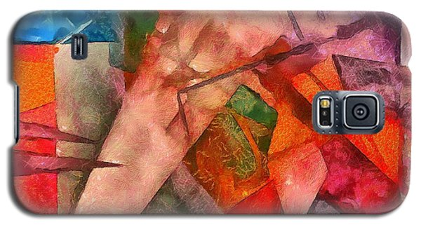 Galaxy S5 Case featuring the digital art Silky Abstract by Catherine Lott