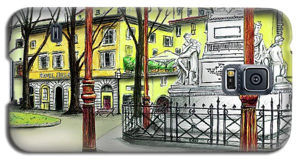 Galaxy S5 Case featuring the painting Silla Hotel Piazza Demidoff Florence by Albert Puskaric