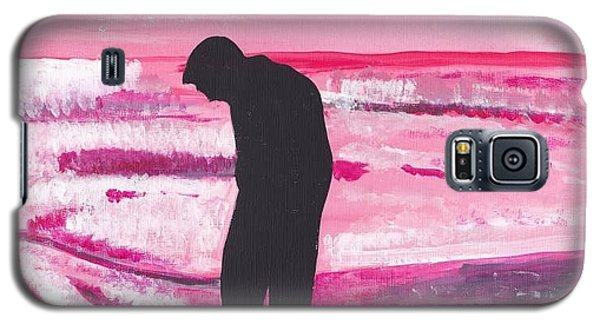 Galaxy S5 Case featuring the painting Silouette by Audrey Pollitt