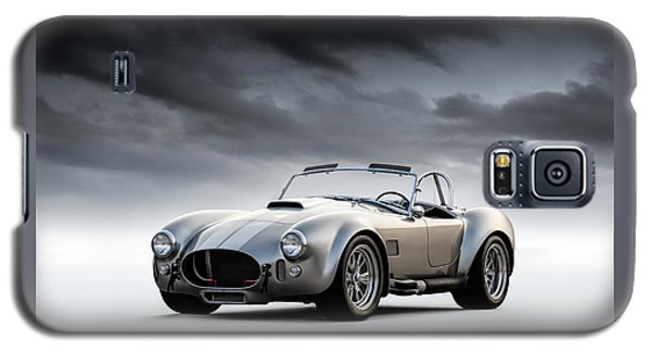 Silver Ac Cobra Galaxy S5 Case
