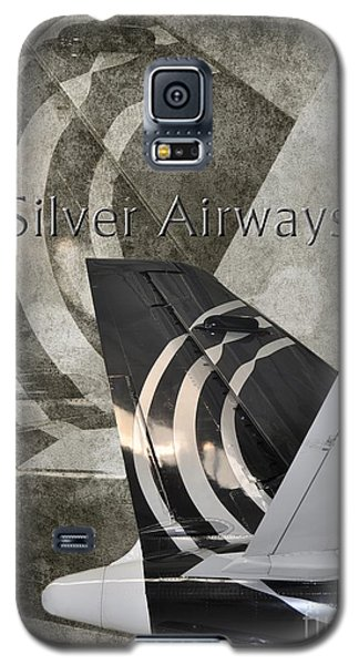 Silver Airways Tail Logo Galaxy S5 Case by Diane E Berry