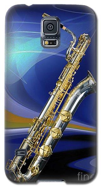 Silver Baritone Saxophone Photograph In Color 3459.02 Galaxy S5 Case