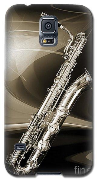 Silver Baritone Saxophone Photograph In Sepia 3459.01 Galaxy S5 Case