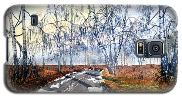 Silver Birch On Skipwith Common Galaxy S5 Case