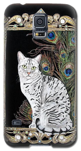 Silver Egyptian Mau Galaxy S5 Case