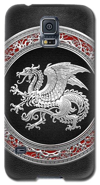 Silver Icelandic Dragon  Galaxy S5 Case