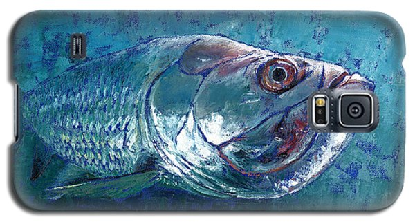 Galaxy S5 Case featuring the painting Silver King Tarpon by Pam Talley