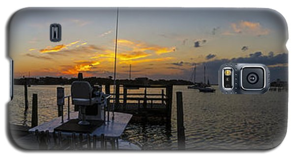 Silver Lake Sunset Panorama Galaxy S5 Case