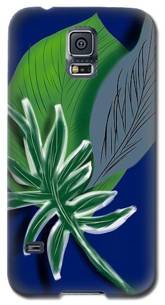 Galaxy S5 Case featuring the digital art Silver Leaf And Fern I by Christine Fournier