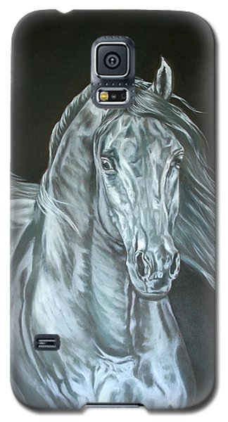Galaxy S5 Case featuring the painting Silver by Leena Pekkalainen