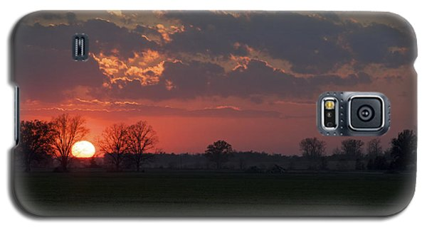 Silver Lining - Red Sunset Art Print Galaxy S5 Case