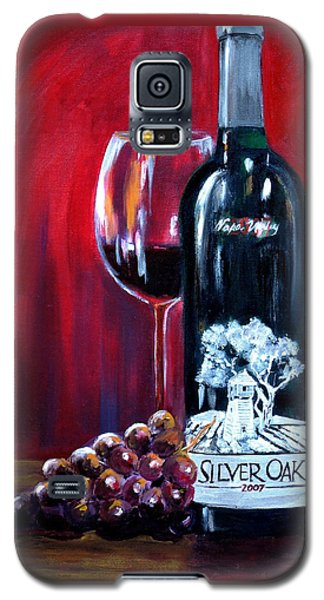 Silver Oak Of Napa Valley And Grape Galaxy S5 Case by Sheri  Chakamian