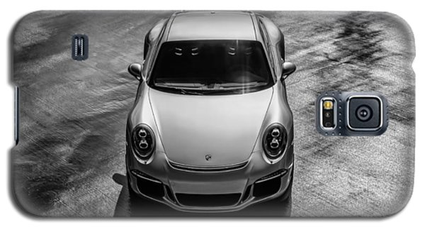 Galaxy S5 Case featuring the digital art Silver Porsche 911 Gt3 by Douglas Pittman