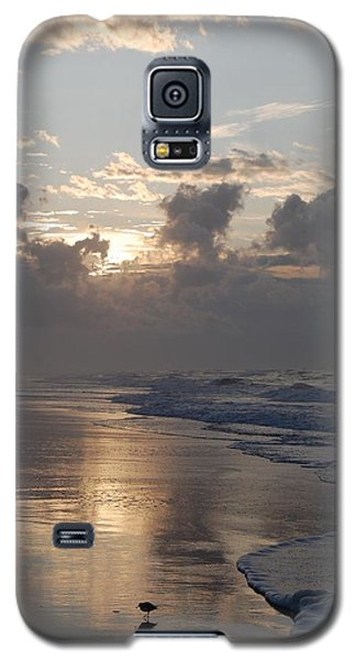 Silver Sunrise Galaxy S5 Case by Mim White