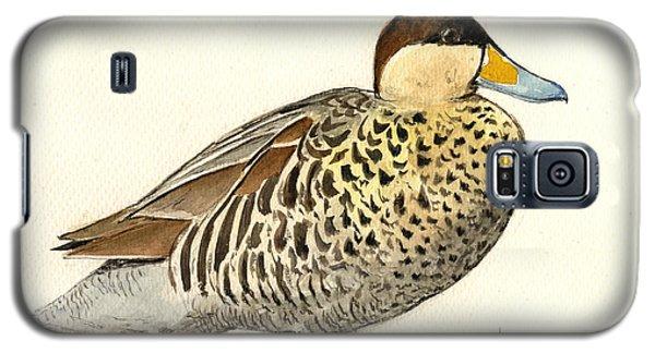 Duck Galaxy S5 Case - Silver Teal by Juan  Bosco