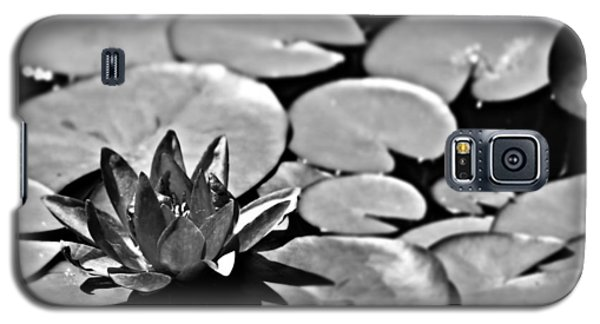 Silver Waterlily Galaxy S5 Case