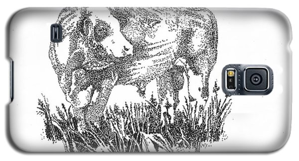Simmental Bull Galaxy S5 Case by Larry Campbell