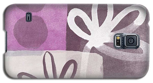 Orchid Galaxy S5 Case - Simple Flowers- Contemporary Painting by Linda Woods