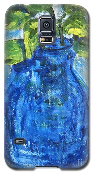 Galaxy S5 Case featuring the painting Simple Greens by Reina Resto