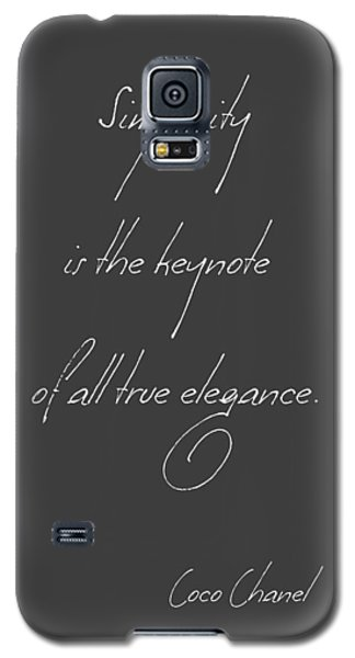 Simplicity And Elegance Galaxy S5 Case by Gina Dsgn