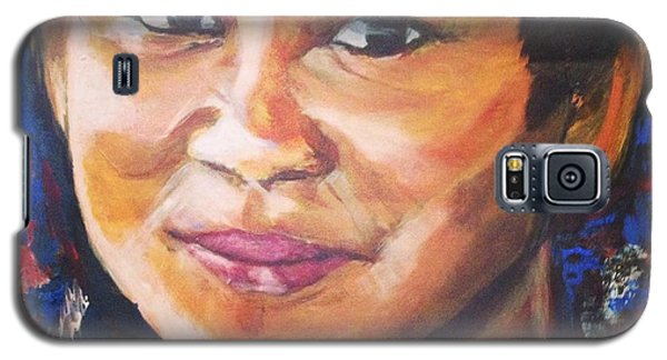 Galaxy S5 Case featuring the painting Simply Moi by Belinda Low