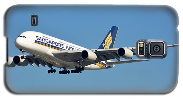 Singapore Airbus A380-841 9v-skn Los Angeles International Airport January 19 2015 Galaxy S5 Case