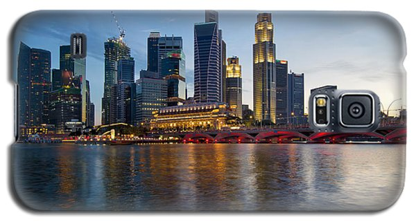 Singapore River Waterfront Skyline At Sunset Galaxy S5 Case